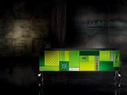 GOOD MOOD 7020 Multicolor 4-Door Sideboard-Credenza-Buffet by Leonardo de Carlo ('Riflessivo' Collection, 2010) from ARTE VENEZIANA (Copyright: © Leonardo de Carlo, ARTE VENEZIANA)