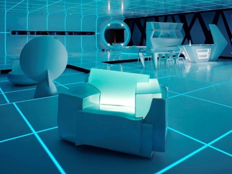TRON Armchair by Dror Benshetrit for CAPPELLINI & WALT DISNEY SIGNATURE in 'TRON Designs Corian®' 2011 - Copyright©: Dror Benshetrit (Studio Dror), CAPPELLINI, DISNEY, DISNEY CONSUMER PRODUCTS, DUPONT© CORIAN©