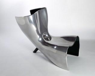 ALUFELT Chair-Chaise Longue-Lounger by Marc Newson (Limited Edition of 6 + 2 Prototypes, 1993) from POD (CENTRE POMPIDOU, Paris) - Copyright:: ©Marc Newson, CENTRE POMPIDOU