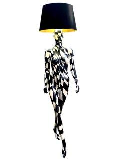BLACK & WHITE DIAMOND Mannequin Floor Lamp by Jimmie Karlsson & Martin Nihlmar from JIMMIE MARTIN (Copyright: © JIMMIE MARTIN, Jimmie Karlsson, Martin Nihlmar)