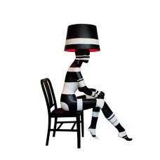 SITTING STRIPES Mannequin Floor Lamp by Jimmie Karlsson & Martin Nihlmar from JIMMIE MARTIN (Copyright: © JIMMIE MARTIN, Jimmie Karlsson, Martin Nihlmar)