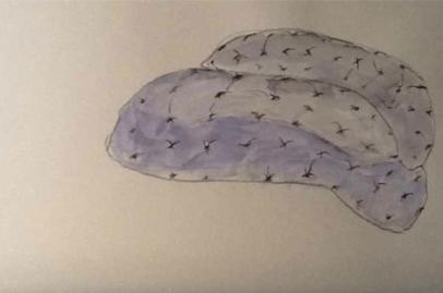 Armchair-Chaise Longue-Lounger by Danielle Moudaber (sketch by Danielle Moudaber)