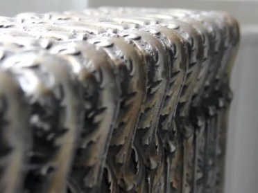 Decorative Iron Radiators with embossed pattern (photo by Rania Ajami & Danielle Moudaber)