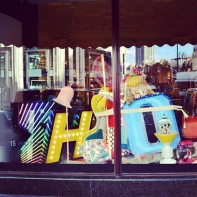 GRAPHIC LAMPS Collection at HARRODS Department Store windows in London