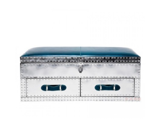 VEGAS BLUE Trunk-Storage Chest-Seating Bench from KARE DESIGN ('Vegas' Collection) - Copyright: ©KARE DESIGN