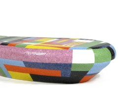 TAVOLINO ALL' APERTO Coffee Table-Seating Bench by Alessandro Mendini from BISAZZA (Limited Edition, 2008, photo by Fabrice Gousset) - Copyright: ©BISAZZA, Alessandro Mendini (Atelier Mendini), Galerie Kreo