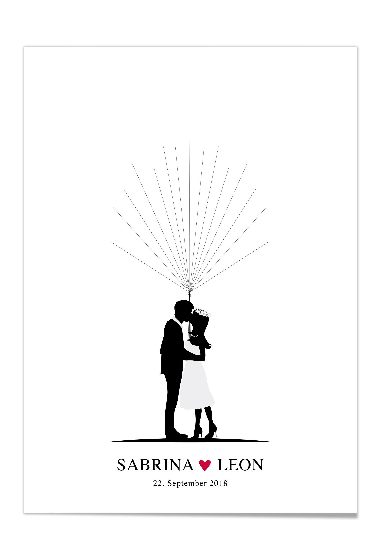 Fingerprint Poster zur Hochzeit  DesignGrusskarten