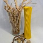 Vase Gelb länglich - 58cm