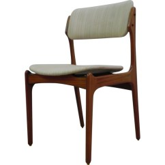 Erik Buck Chairs Outdoor Concert Set Of 6 Rosewood With White Fabric Buch 1960s