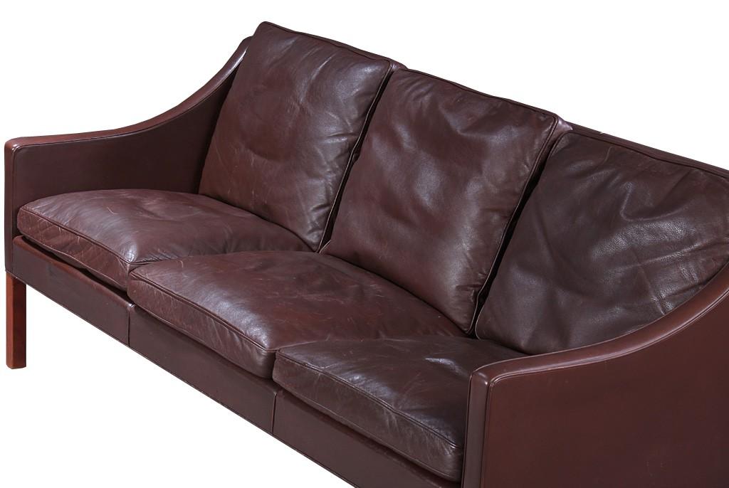 borge mogensen sofa model 2209 restoration hardware belgian track arm leather fredericia stolefabrik 3 seater 1960s sold