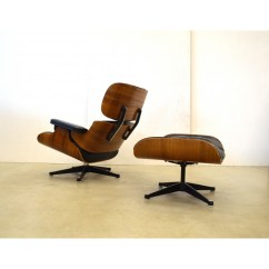 Vitra Lounge Chair Casters For Carpet Armchair In Black Leather Charles Ray Eames 1960s Previous