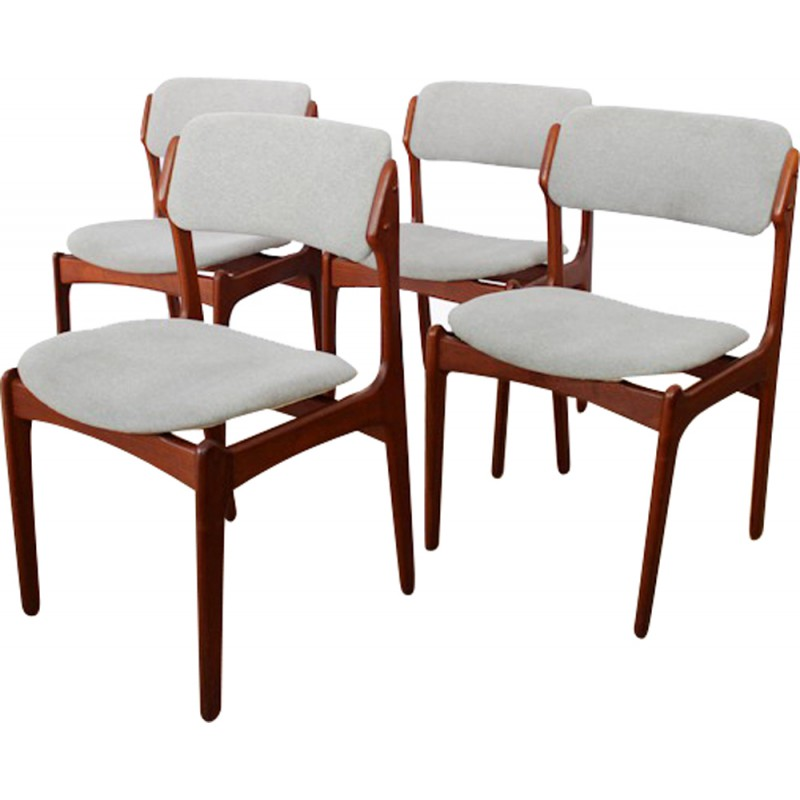 danish dining chair teenage bedroom chairs set of 4 scandinavian erik buch 1960s design market