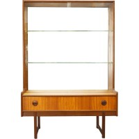 Turnidge mid-century glass display cabinet - 1960s ...