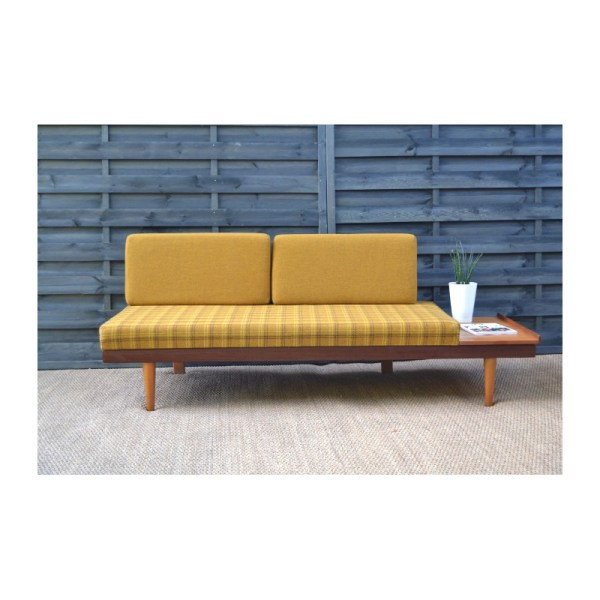 Daybed Sofa In Teak And Yellow Fabric Ingmar Relling