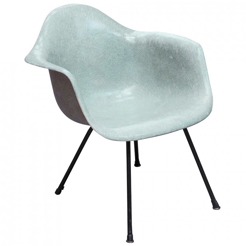 eames arm chair for shower the elderly herman miller lax armchair in seafoam green fiberglass charles ray