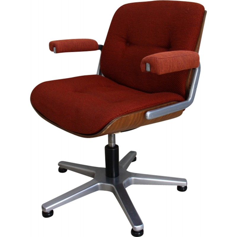 Vintage swivel office chair Giroflex Stoll Germany