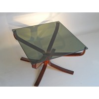 Smoked glass coffee table, Sigurd RESSELL - 1970s - Design ...