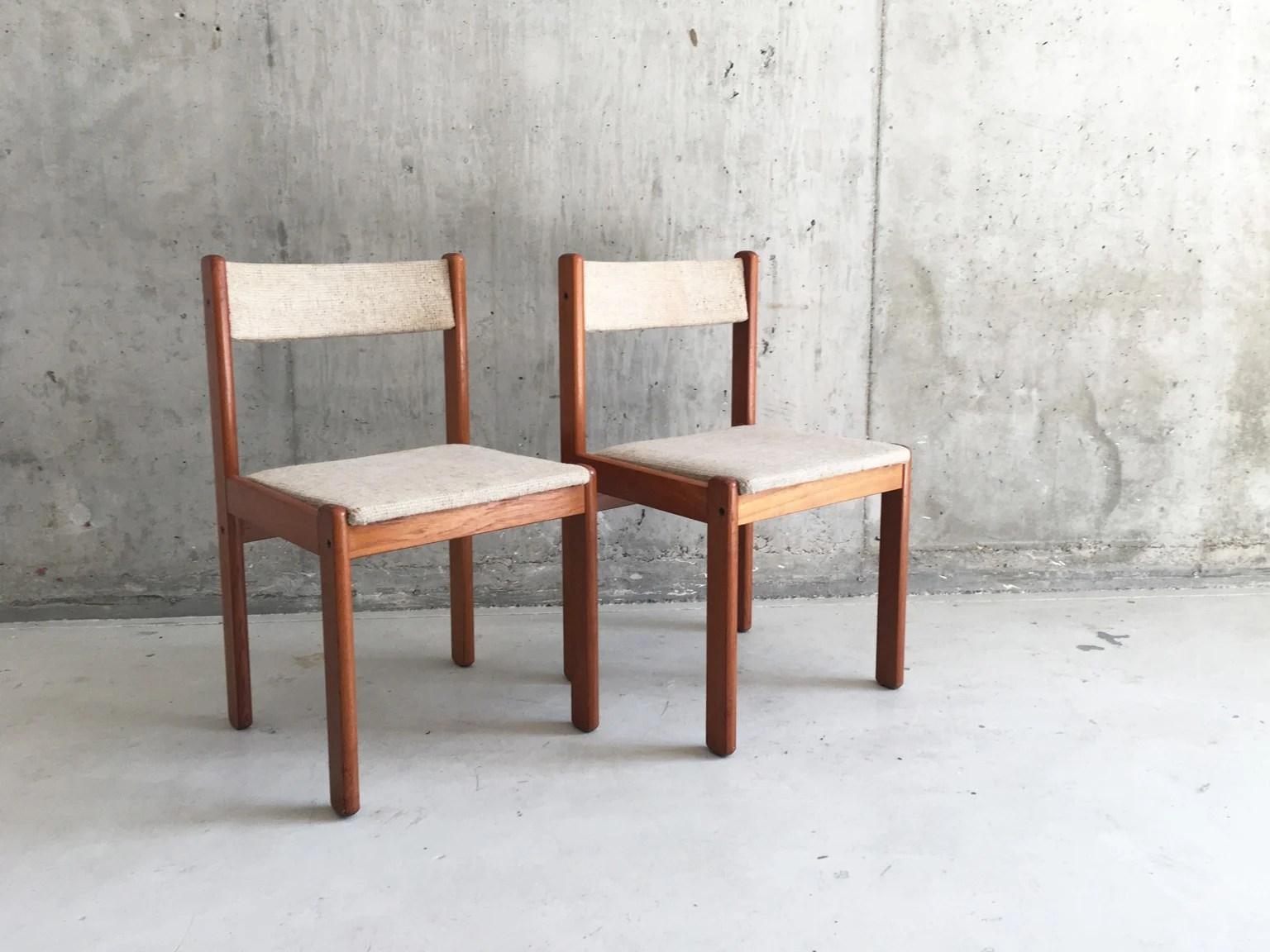 Vintage danish teak dining chairs  1970s  Design Market
