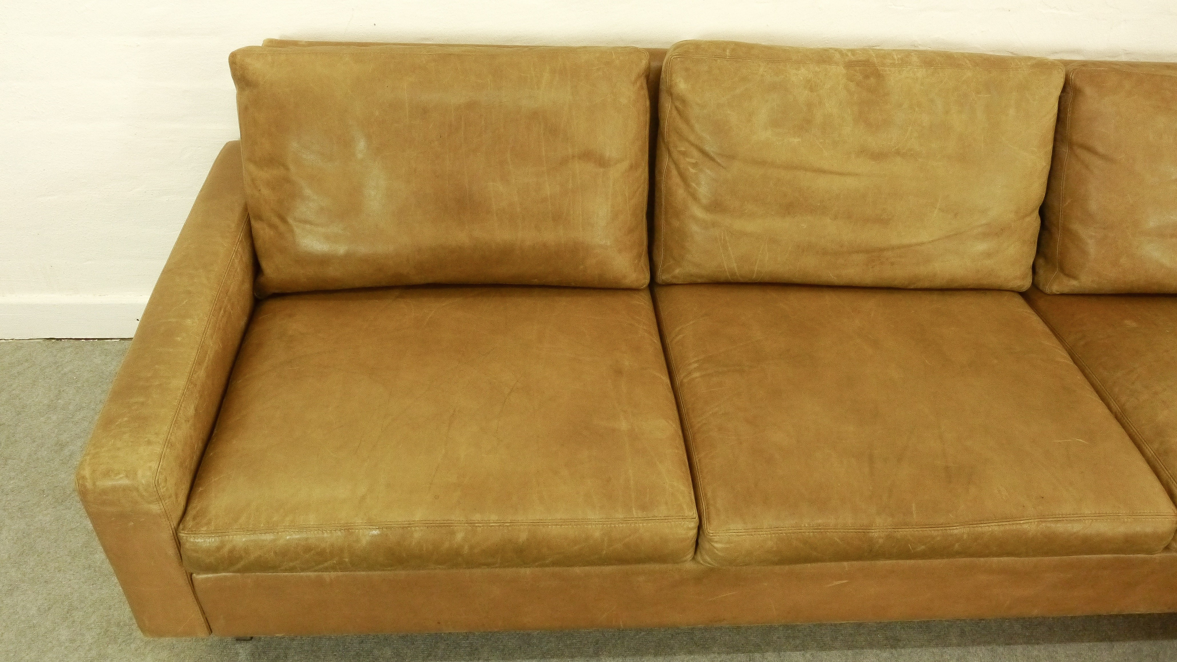 70s sofa craigslist austin huge lounge by kaufeldde sede in leather with armchair previous next