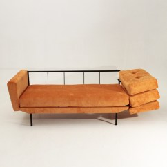 Orange And Black Sofa Bed Custom San Francisco 1950s Design Sofabed In Grey