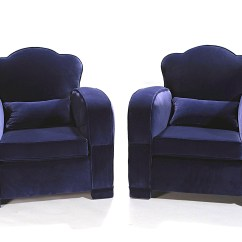 Blue Velvet Armchair Nz Chair Back Covers Amazon Pair Of Armchairs In 1940s Design Market