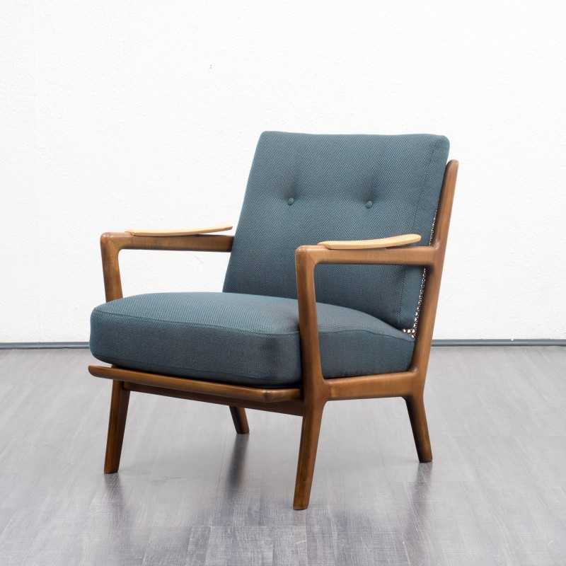 vintage arm chair cheap white folding covers for sale armchair in shapely solid beech wood frame 1950s design