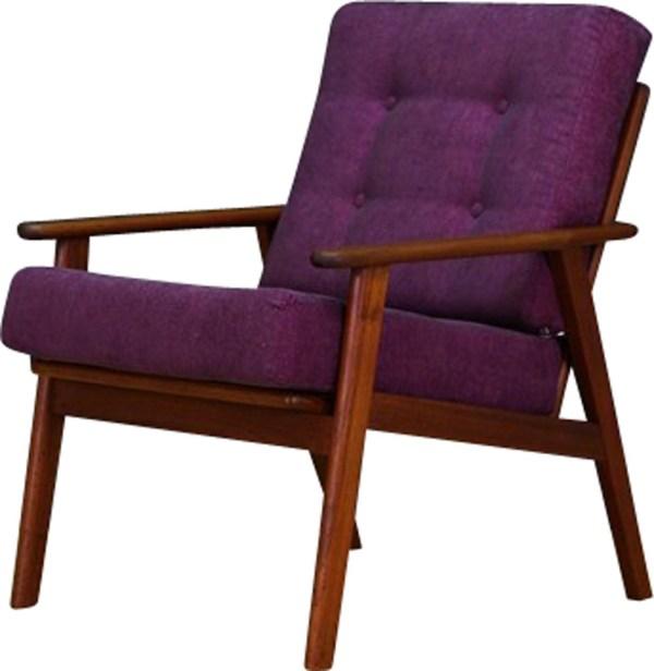 Vintage Scandinavian Purple Armchair - 1970s Design Market