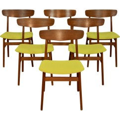 Danish Dining Chair Used Accent Chairs Set Of 6 In Teak Farstrup 1960s Design Market