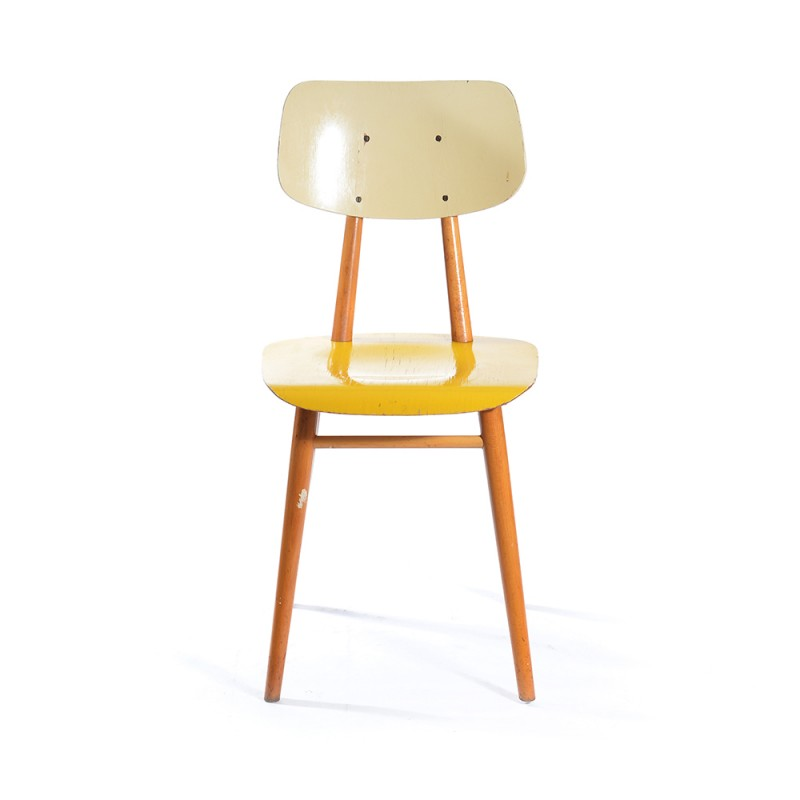 Vintage Yellow Kitchen Chair by TON  1960s  Design Market