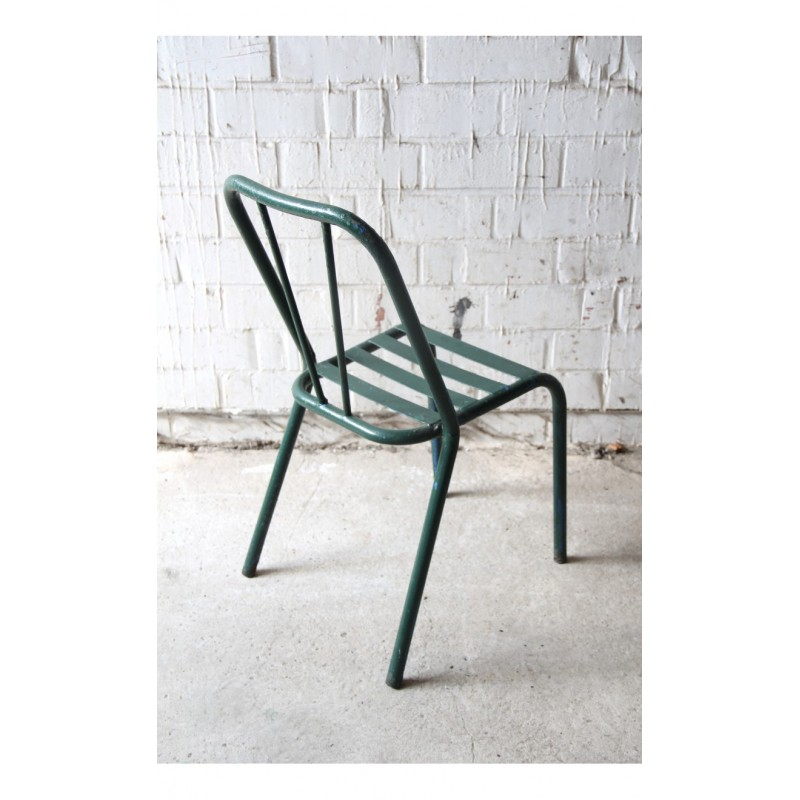 green metal bistro chairs tommy bahama beach bjs set of 2 chair vintage 1940s design market