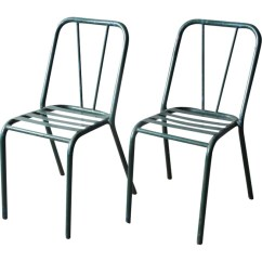 Green Metal Bistro Chairs Small Folding Chair Camping Set Of 2 Vintage 1940s Design Market