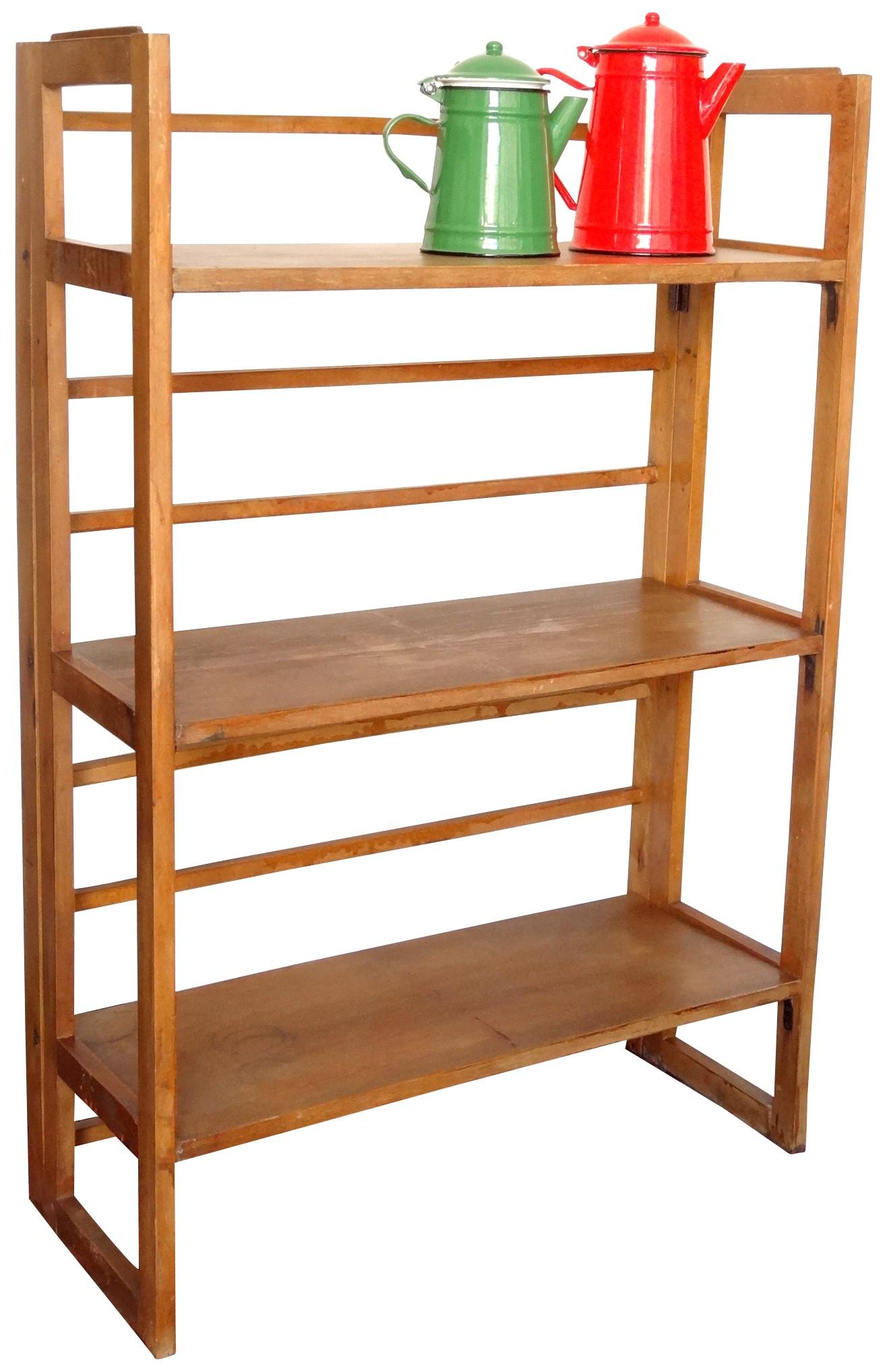 Folding Shelves In Solid Wood 1950s Design Market