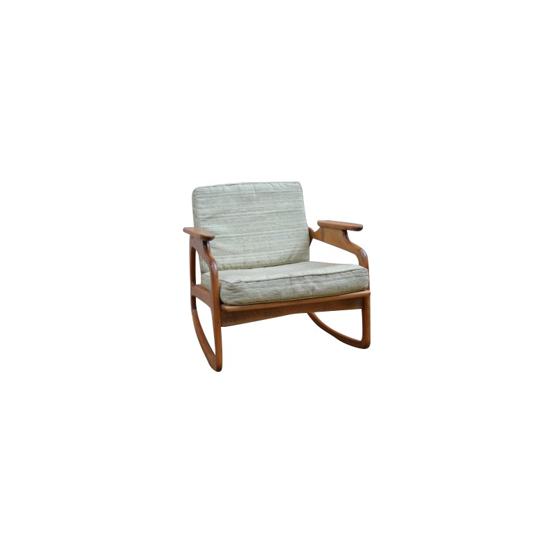adrian pearsall rocking chair posture seat office in beechwood and fabric 1960s
