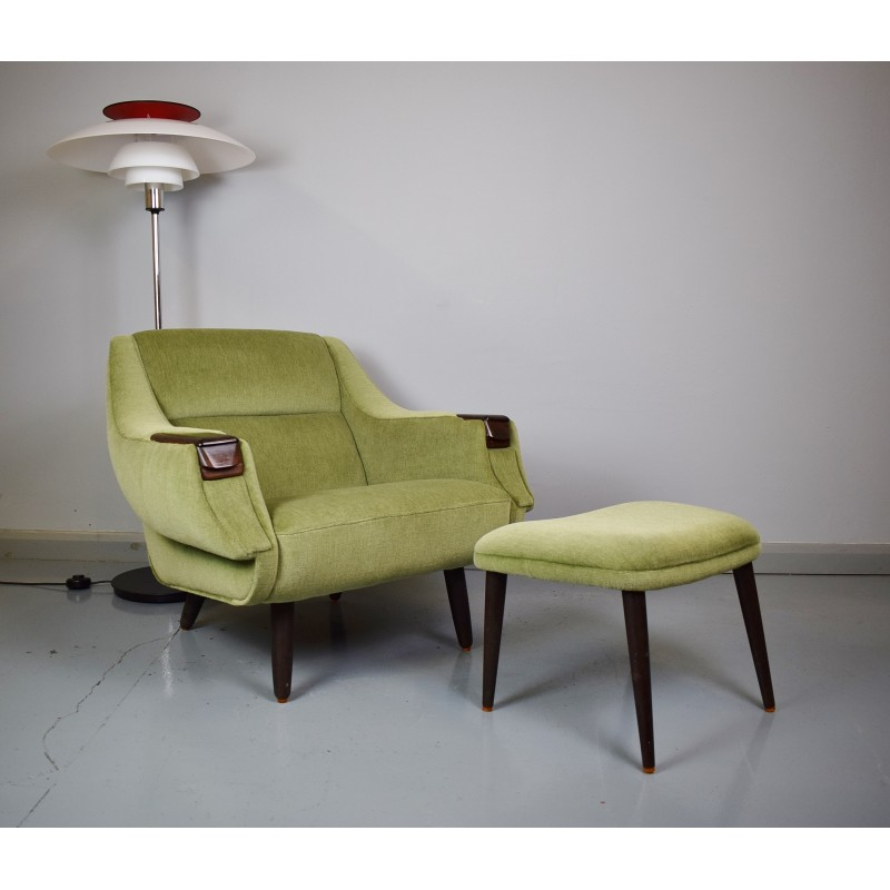 chair and matching stool norwalk sofa austin vintage lounge danish by h w klein for bramin rosewood 1960s