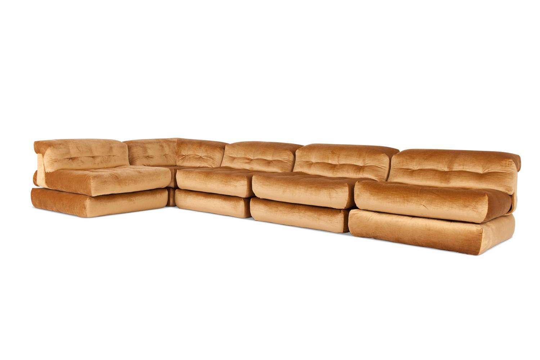 mah jong modular sofa preis bed reduced vintage quotmah quot in gold velvet by roche