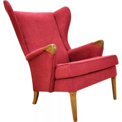 Wingback Chair Uk Eiffel Dining With Beech Legs Vintage Teak Frame By Parker Knoll 1960s