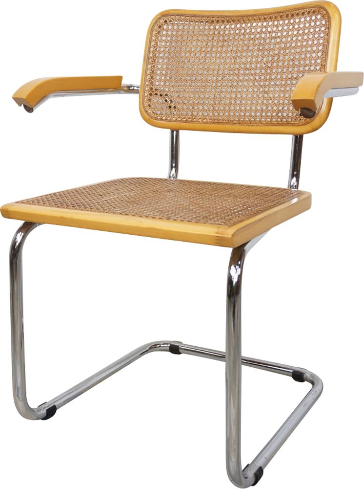 marcel breuer cesca chair with armrests flower sash set of b64 design market sold