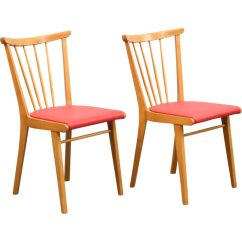 Vintage Kitchen Chairs Side Table Set Of 2 In Solid Beech Design Market