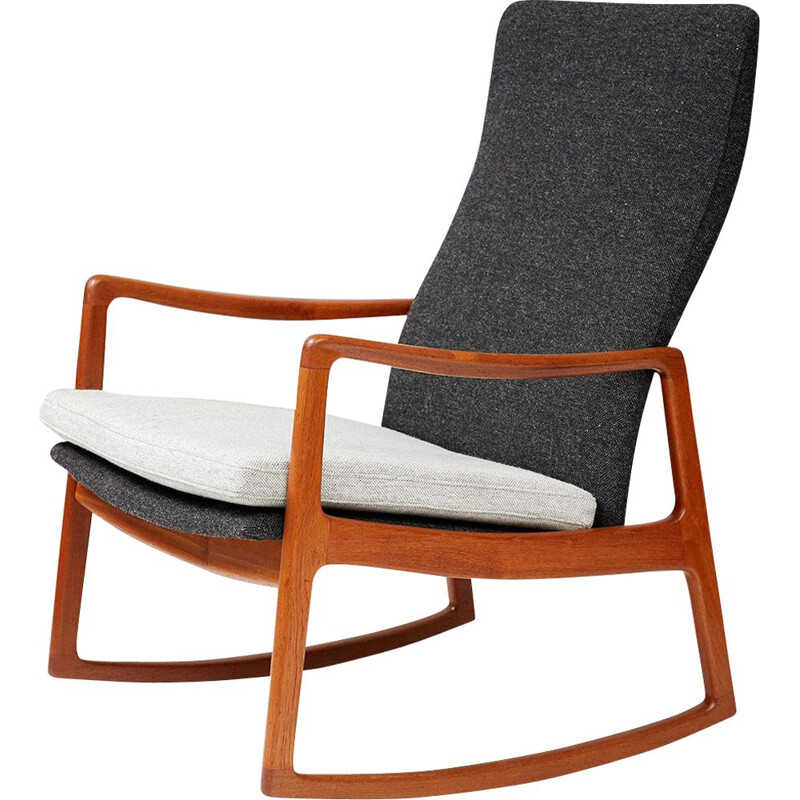 what is a rocking chair steel folding vintage design 50 s 60 70 market fd 160 in teak by ole wanscher