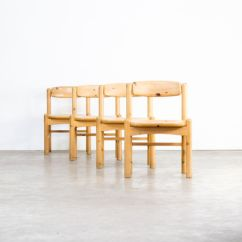 Vintage Wooden Dining Chairs Counter Height Table And Set Of 4 In Pinewood Design Market
