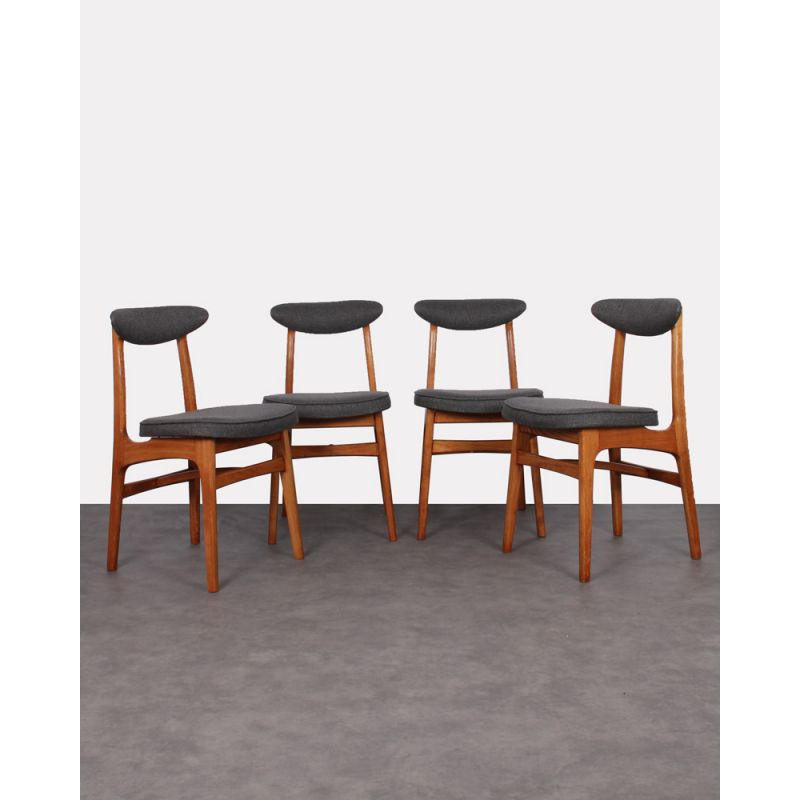 vintage wooden chairs pottery barn oversized anywhere chair set of 4 by rajmund halas design market