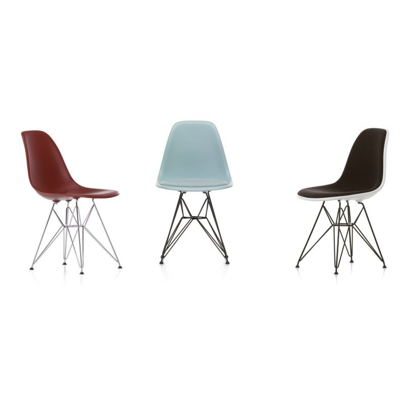 plastic chair dsr by charles and ray eames for vitra