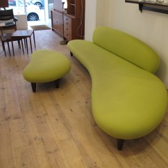 Noguchi Freeform Sofa Vitra Small Beds For Spaces In Green Fabric Isamu Post