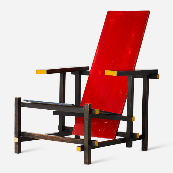 gerrit t rietveld roodblauwe stoel 1918 c vg bild kunst