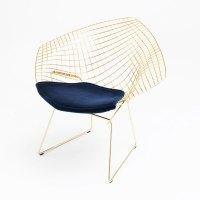 Knoll Diamond Chair Gold 18K door Harry Bertoia | Design ...