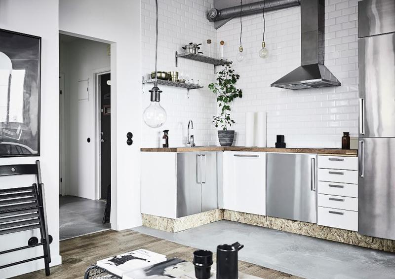 cucine in acciaio il design incontra la funzionalit