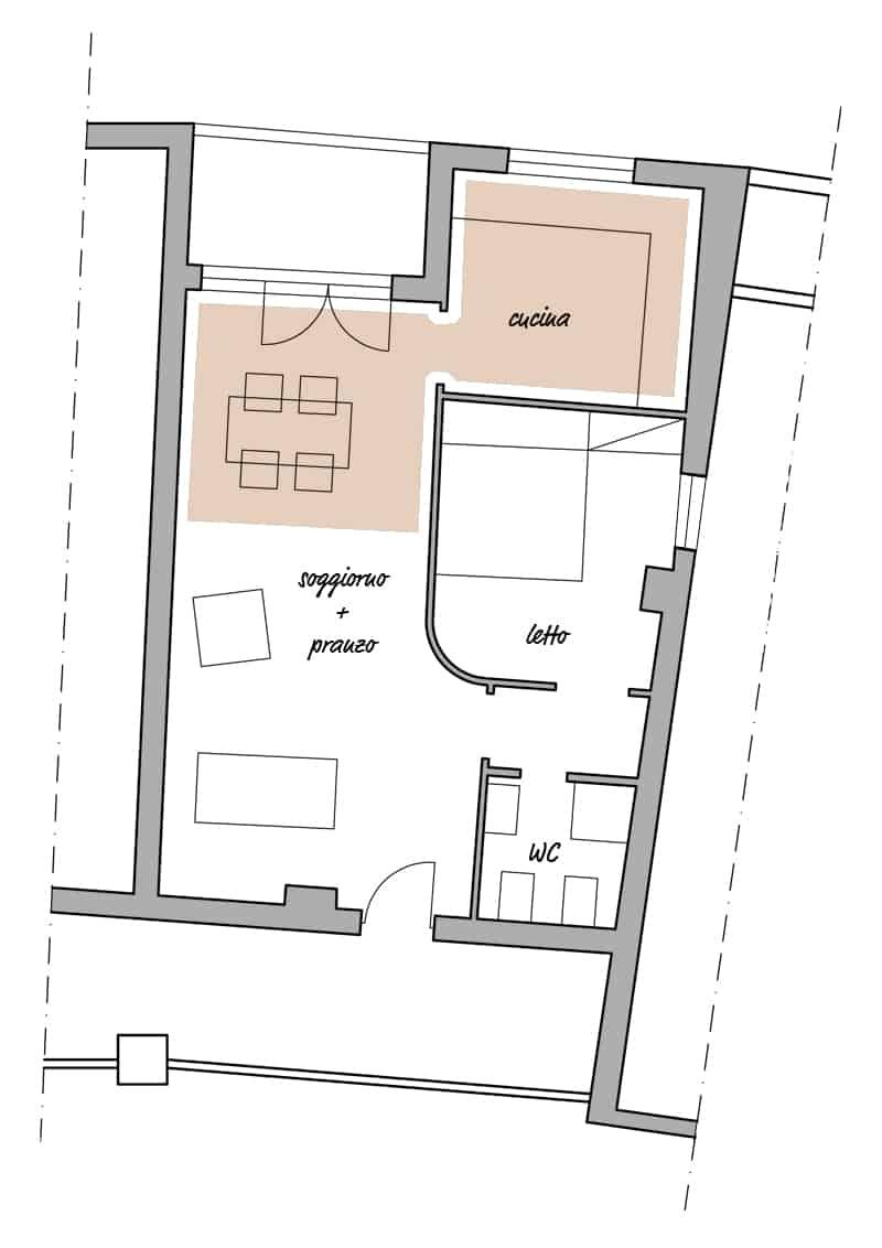 progetto cucina e soggiorno   arredi e illuminazione   4 soluzioni ...
