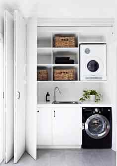 angolo lavanderia | immagine via Homes to love