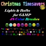 Christmas Lights Bulbs Orb Brushes by: kelzygrl