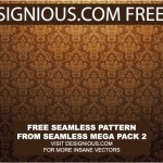 Seamless Damask Vector Pattern by: Designious